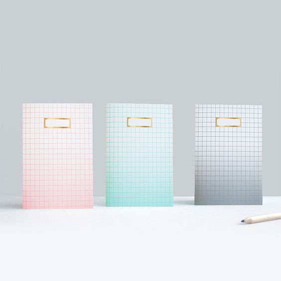 Image of OMBRE GRID NOTEBOOKS X 3