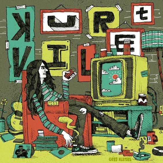 Kurt Vile - greg kletsel illustration