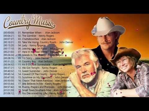 Kenny Rogers Alan Jackson John Denver Greatest Hits Full Album