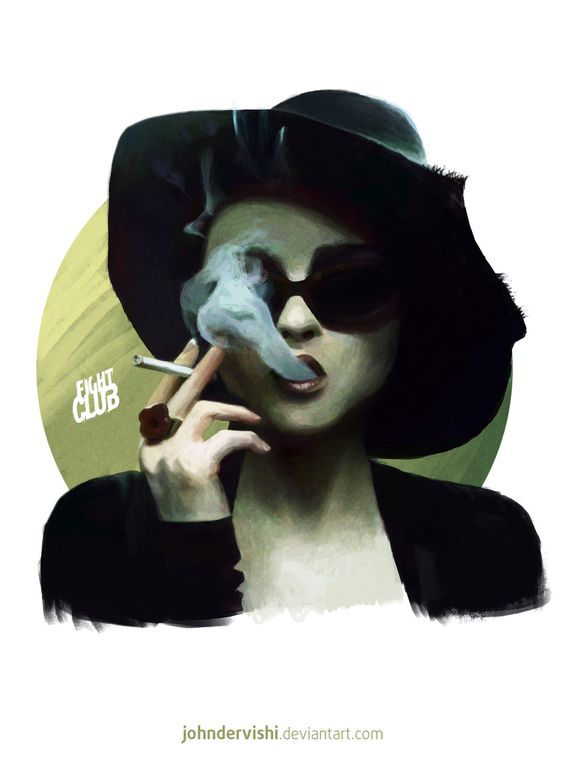 Marla (Fight Club) Study, John Dervishi on ArtStation at https://www.artstation.com/artwork/marla-fight-club-study