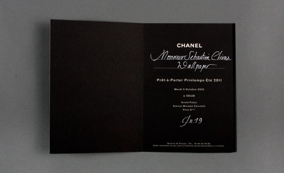 ELEMENTS MAGAZINE: Fashion Week: Womenswear Collections S/S 2011 Invitation Cards
