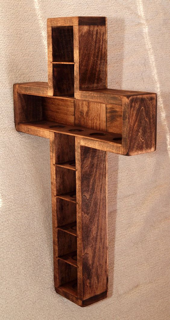 Shadow Box Display Case Wooden Crosses And Display Case
