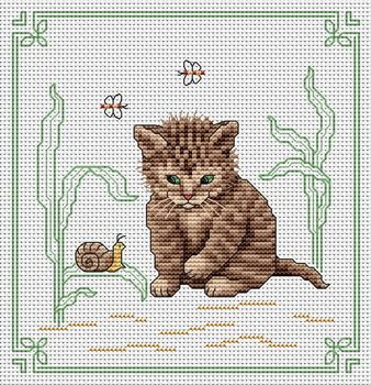 Cat watching a snail.: Embroidery Patterns, Cats Dogs Crossstitch, Counted Cross Stitch, Cross Stitch Perler, Cross Stitch Embroidery, Cats Mace