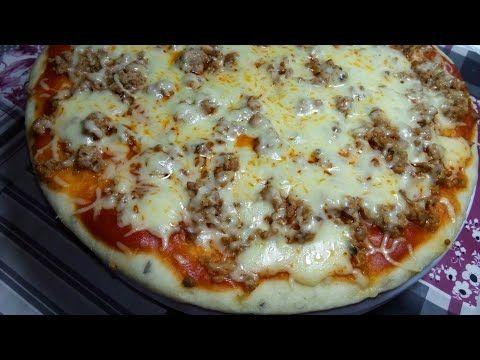 أسرع بيتزا بدون فرن ولا مجهود بعجينة قطنية لي جربتها ماغديش تبدلها Youtube Cooking Food Hawaiian Pizza