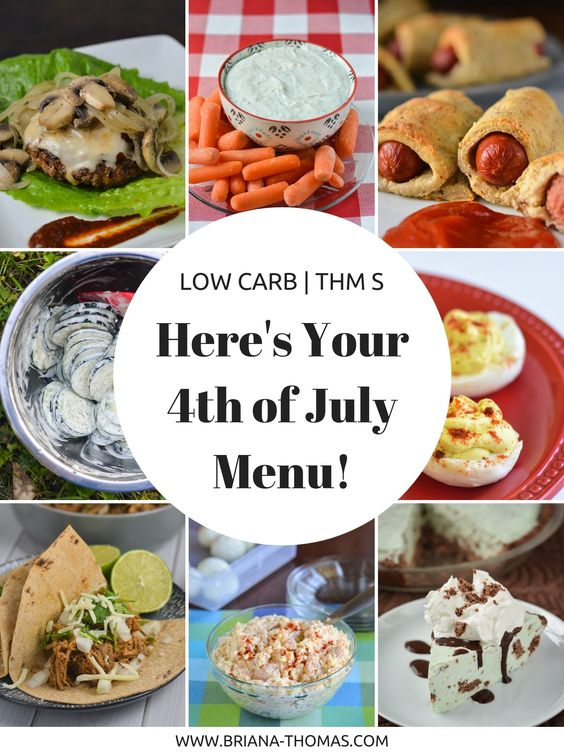 Here's Your Fourth of July Summer Picnic Menu! THM S and Low Carb