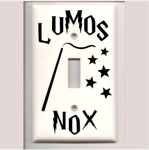 Vinyl Decal Stickers Home Decor A1000 Harry Potter Lumos Nox Light Switch Cover Harry Potter Bedroom Decor Harry Potter Room Decor Harry Potter Decal