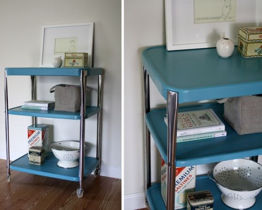 painted kitchen cart