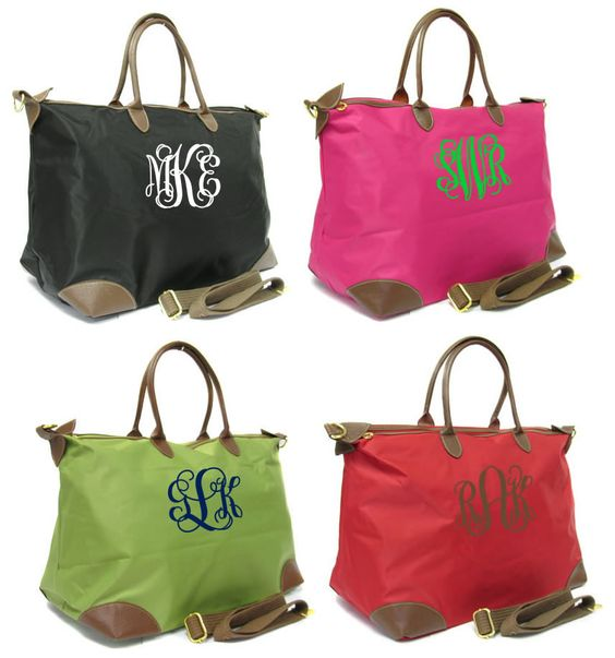 This is one I want! Monogrammed large tote. Perfect weekender. $42.50