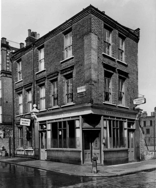 When this photo was taken, The Carpenters' Arms in Cheshire St was the most notorious pub in London – owned by the gangster twins, Reggie and Ronnie Kray who bought it in 1967 for their mother Violet.