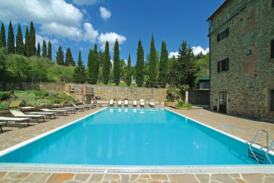 swimming-pool and terrace #villainversilia propose to you this property in #Tuscany