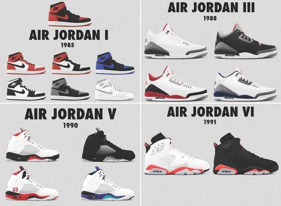 All Jordan Sneakers 1 23