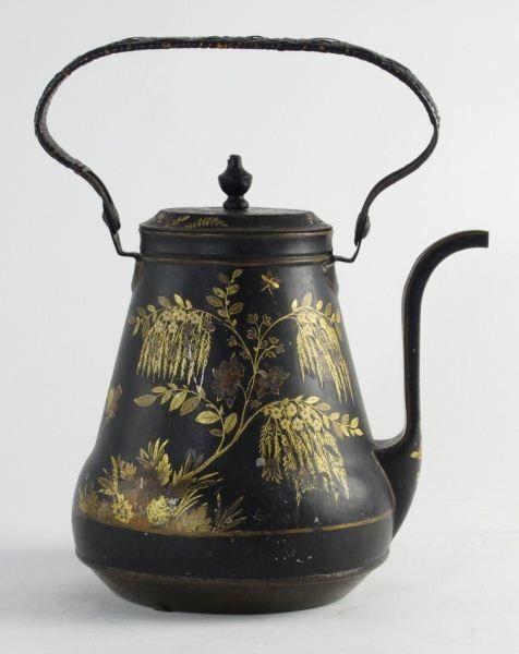 antique teapots | Antique Tole Teapot | to a tea