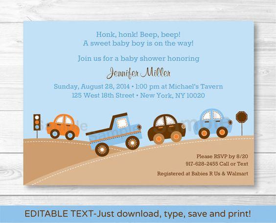 Bumper to Bumper Transportation Car Truck by LittlePrintsParties