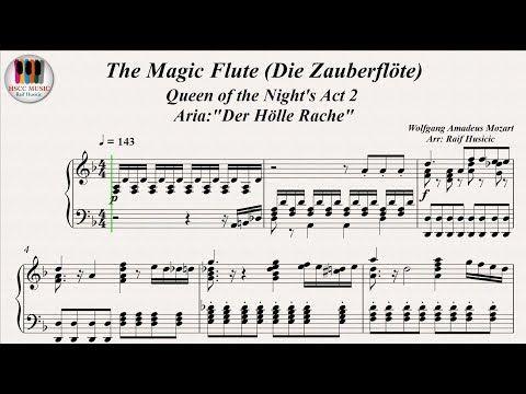 Youtube The Magic Flute Die Zauberflöte Sheet Music