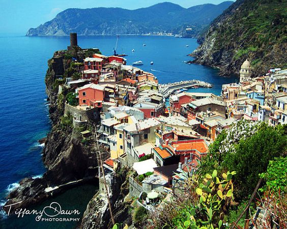 <3 the Cinque Terre and this gorgeous village of Vernazza, Italy Travel Photography Print by Tiffany Dawn Photography http://www.instagram.com/tiffanydawnphotography http://www.facebook.com/tiffanydawnphoto http://www.tiffanydawnphotography.com
