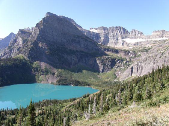 Grinnell Lake and Glacier, Glacier National Park, Montana