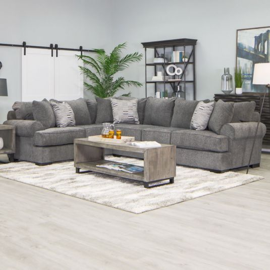 Pearson Sectional Grey Corner Sectional Jerome S In 2020 Living Room Decor Apartment Contemporary Sectional Sofa Furniture