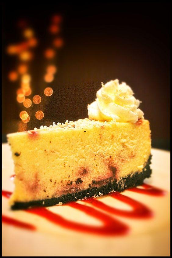 Wendy's White Chocolate Raspberry Cheesecake.