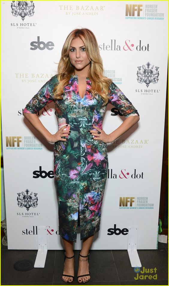 Cassie Scerbo in a Ted Baker dress