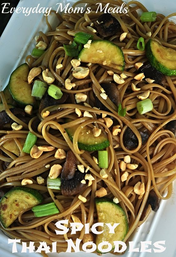 ~Spicy Thai Noodles~ Add a little spice to your Asian night with this flavorful side dish.
