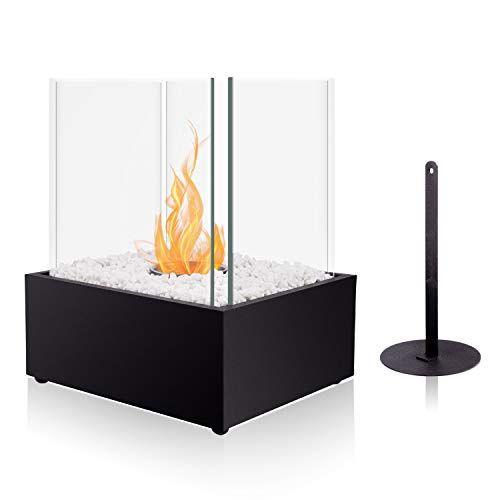 Brian Dany Cheminee Portable De Table Au Bioethanol 24 5 X 20 5 X 29 Cm Cheminee Portable Fireplace Table Mobile