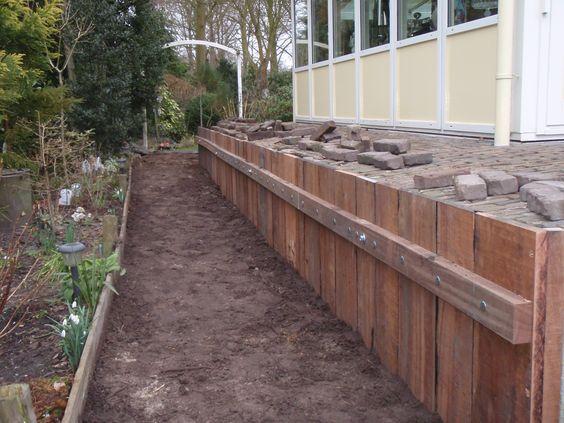 Damwand voor hoogteverschillen goed op te kunnen vangen in uw tuin tuinmani tuinmani www - Tuin grind decoratief ...