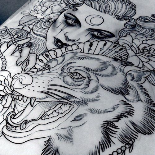 love love love the wolf illustration. would make a great thigh tattoo