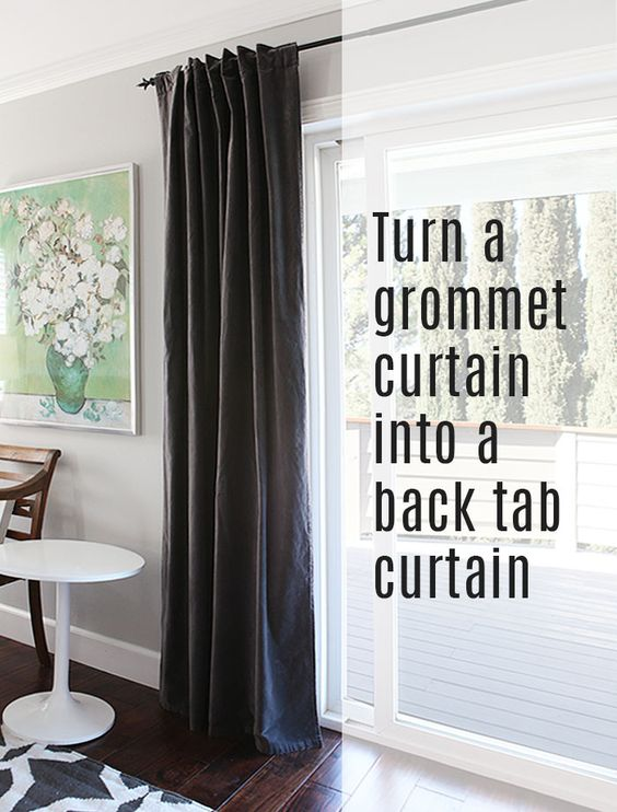 Curtains Ideas curtain grommets diy : How to: turn a grommet-top curtain into a back tab curtain | Sun ...