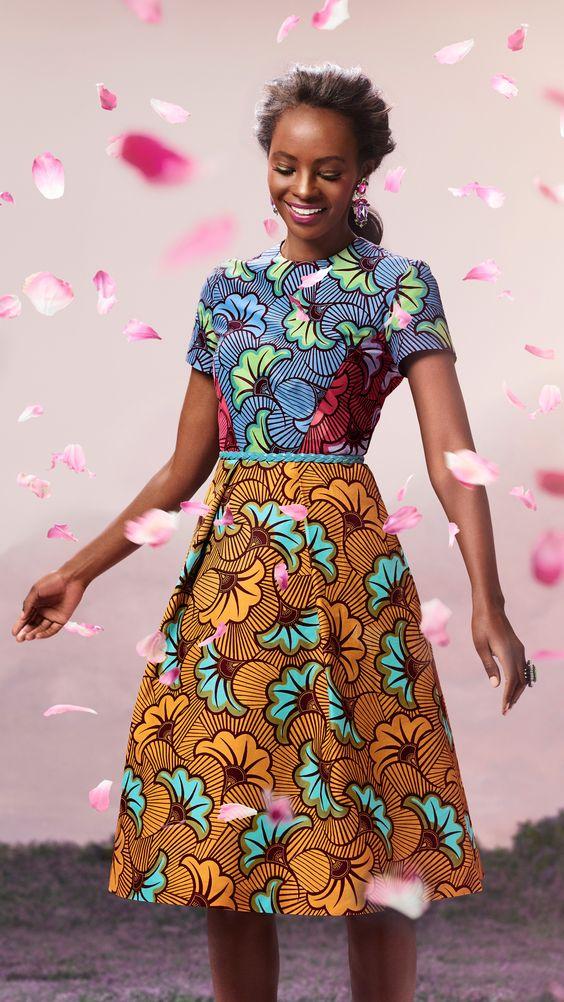 Short-sleeved dress   Vlisco Bloom Collection 2014