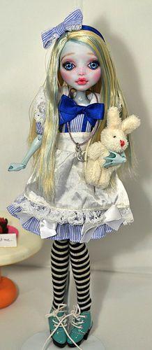 OOAK Custom Monster High Doll Alice in Wonderland 58 by Nekomuchuu Cute Repaint | eBay