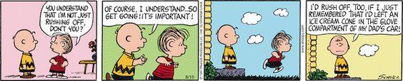 Hurry, kid! Peanuts for 8/15/2014 | Peanuts | Comics | ArcaMax Publishing