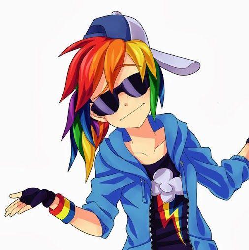 rainbow dash human form my little ponys pinterest