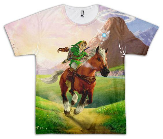 The Legend of Zelda: Ocarina of Time Link Epona Unisex Sublimated T-shirt
