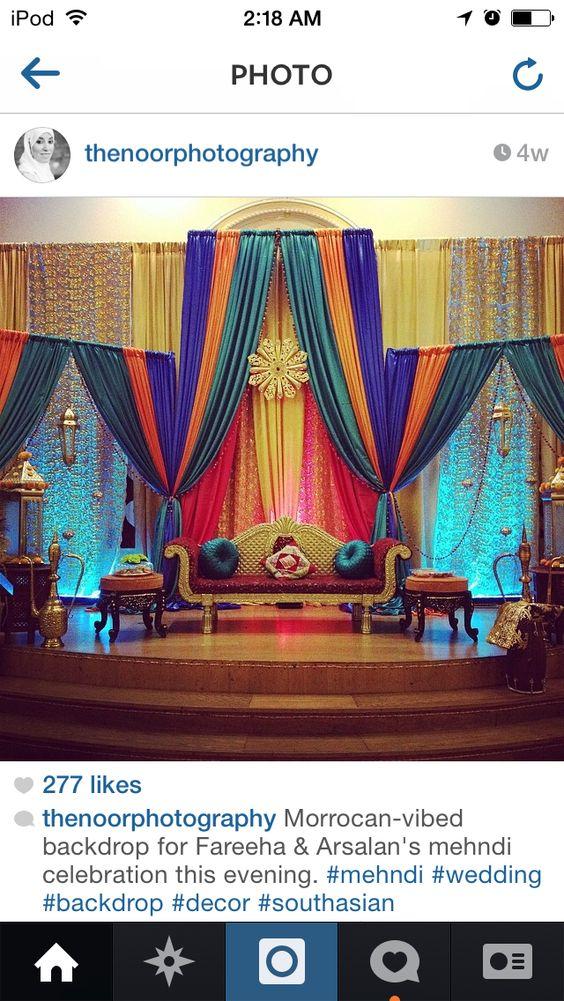 Mehndi Jhoola Decoration : Mehndi decor stages more pinterest