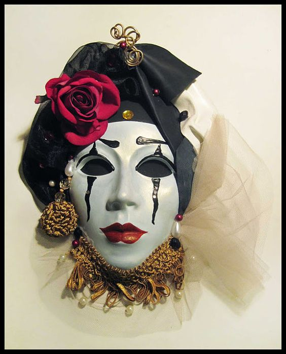 Porcelain Masks Decoration Leather Venetian Mask Ceramic Wall Art Mask Baroque Decorative