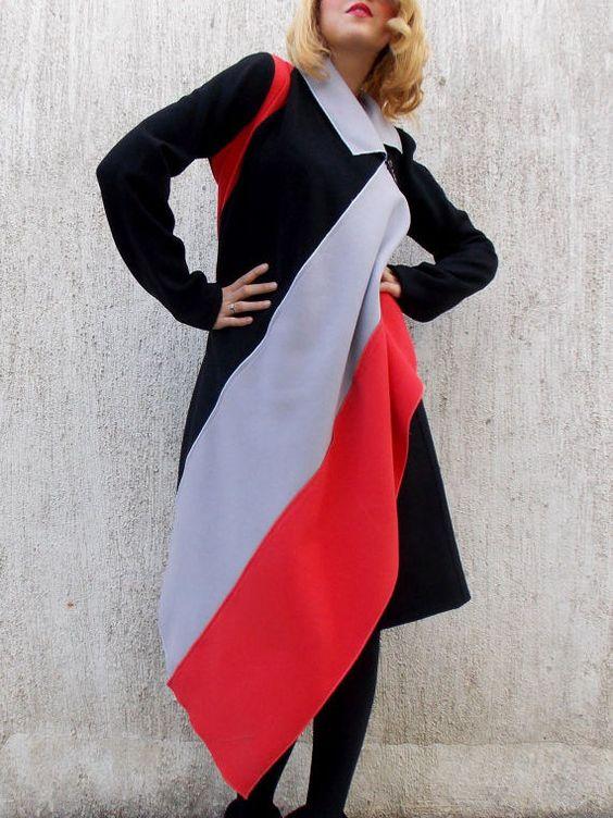 Black Asymmetrical Casha Winter Coat
