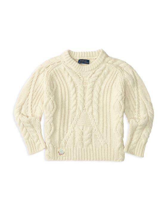 Ralph Lauren Childrenswear Girls' Aran Cable Sweater - Sizes 2-6X
