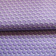 Tissu soft cactus, labellisé oeko-tex little wings violet