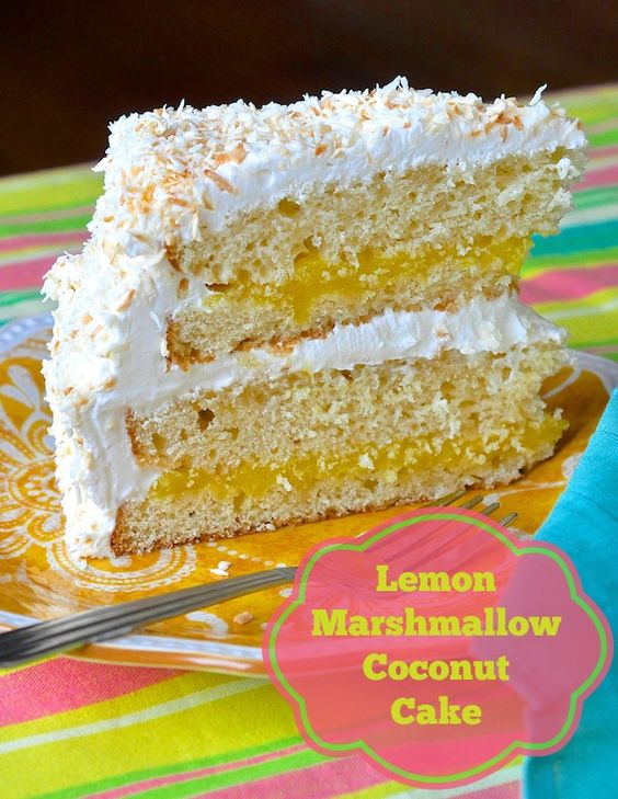 Coconut Cake - an utterly delicious combination of vanilla cake ...