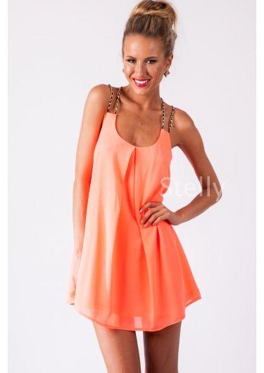 Mocktail Cocktail Dress - Neon Coral - Dresses - Pinterest - Neon ...