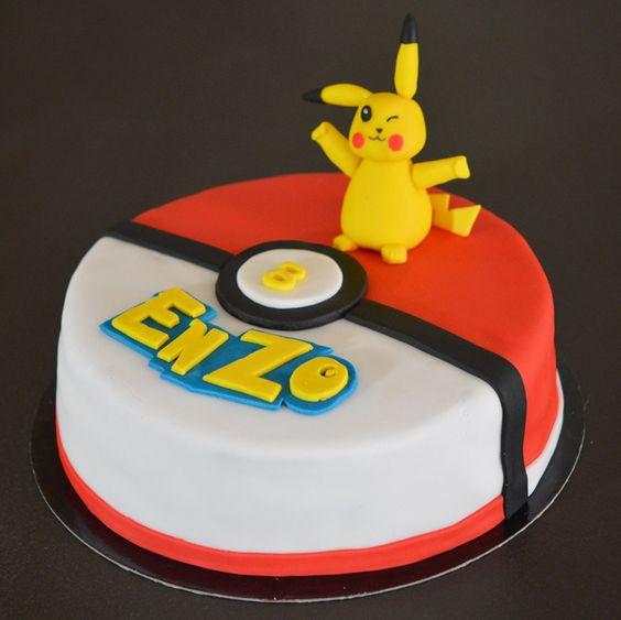 Gâteau Pikachu , anniversaire enfant