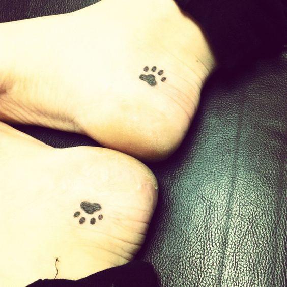 Dog Paw Print Tattoo Writing: Paw Tattoos, Dog Paw Tattoos And Tattoos And Body Art On