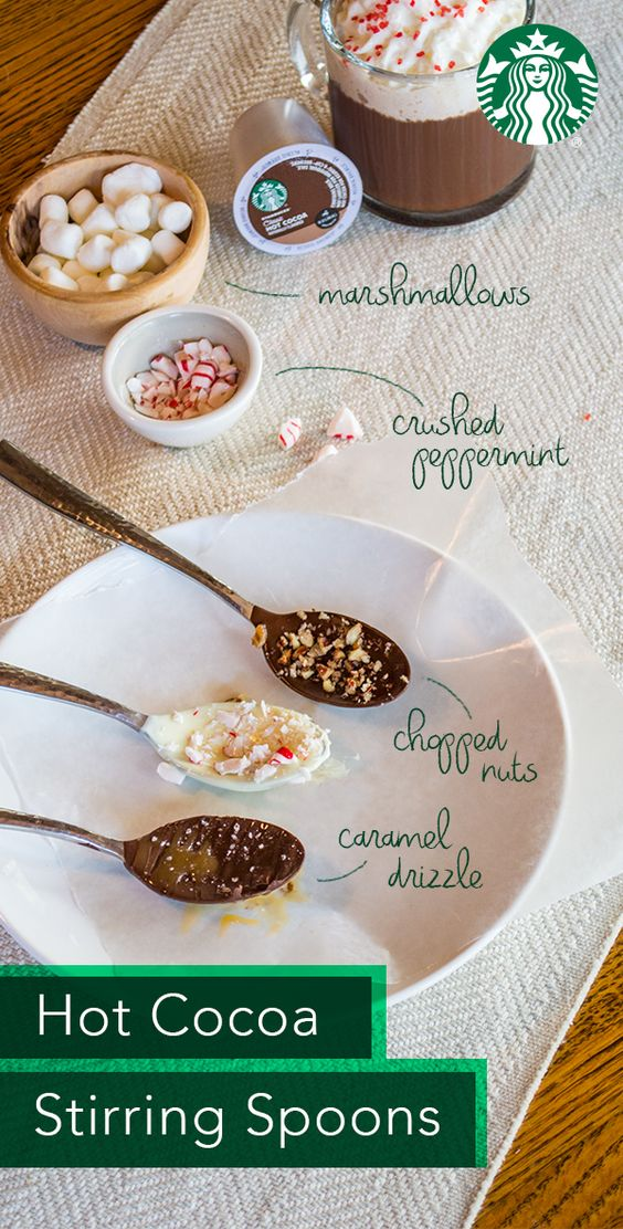how to make hot chocolate stirring spoons