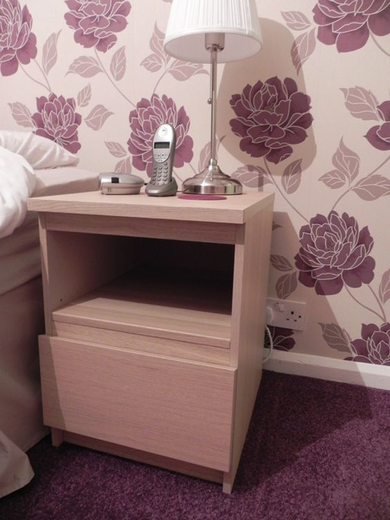 Home drawers and home decorating on pinterest - Malm bed with nightstands ...
