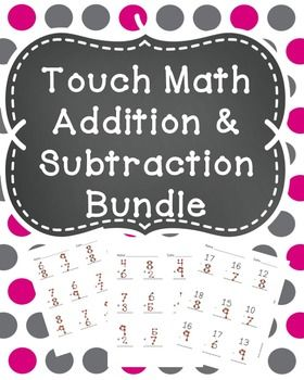 math worksheet : touch math math and worksheets on pinterest : Math Addition Subtraction Worksheets