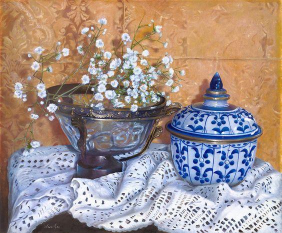 Danka Weitzen  (b.1950)  —  Flowers for Linda,  2013   (900x744)