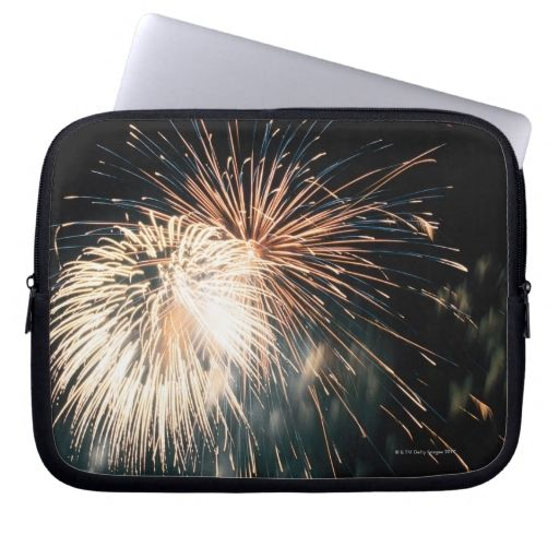 Fireworks in sky computer sleeves