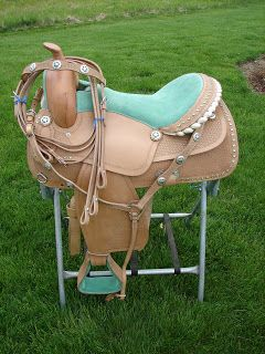 """English , Western. Horse. Pony .Mini Saddles and Tack for Sale: 15"""", 16"""",17"""" Leather Western Horse Show Barrel Trail Pleasure Saddle Set w/Pink Brown Blue Purple or Green Bling!"""