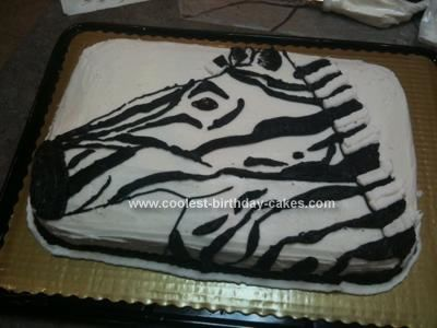 Coolest Homemade Zebra Birthday Cake 7