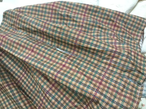 Authentic original Ralph Lauren full boxed pleat dust ruffle/bedskirt green burgundy brown houndstooth pattern by Hannahandhersisters on Etsy